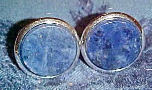 Lapis cufflinks (Image1)