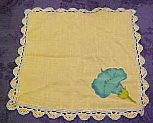 Handpainted handkerchief with edging (Image1)