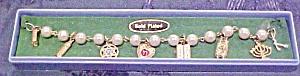 Jewish themed charm bracelet (Image1)