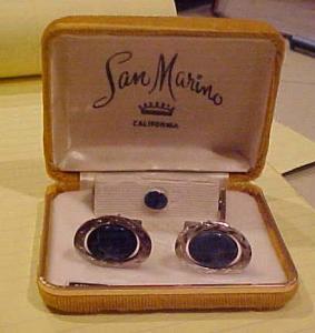 San Marino Sodalite cufflinks and tie tack (Image1)