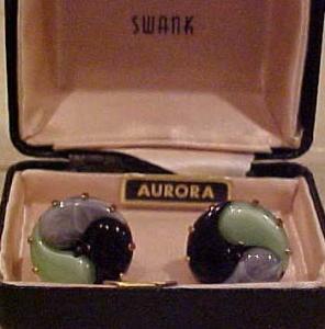 Swank Aurora cufflinks with glass (Image1)