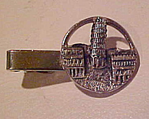 Swank Leaning Tower of Pisa tie bar (Image1)