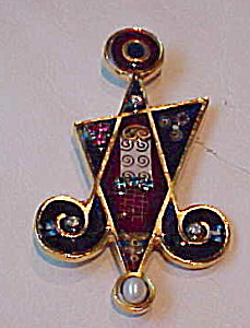 Contemporary star shped pin with rhinestones (Image1)