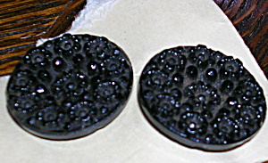 2 victorian glass buttons (Image1)