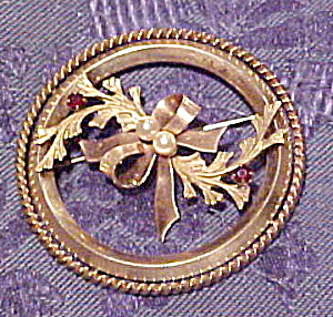 Gold filled retro circle pin (Image1)