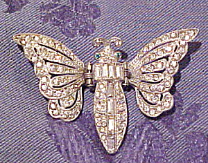Rhinestone butterfly clip (Image1)