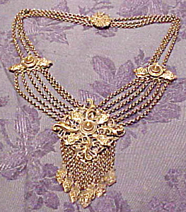 Silverplate festoon necklace (Image1)