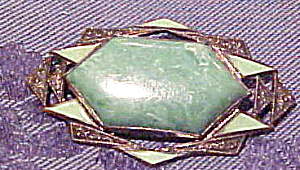 Art Deco pin with enameling (Image1)