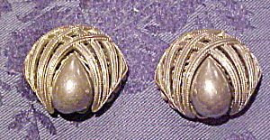 Silvertone earrings (Image1)