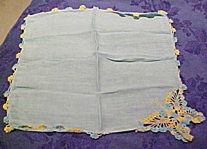 Handkerchief with crocheted butterfly (Image1)