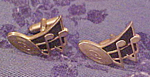 Musical design cuff links (Image1)