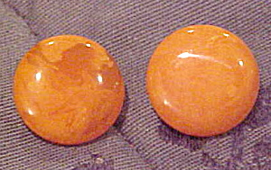 Orange Bakelite earrings (Image1)