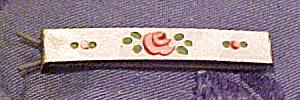 Enamel barrette with flowers (Image1)