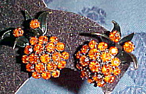 Pineapple shaped rhinestone earrings (Image1)