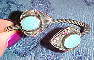 Czechoslovakian cuff with glass (Image1)