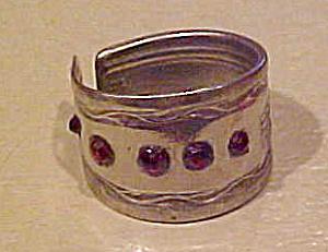 Spoon ring with rhinestones (Image1)