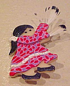 Jacqui 2002 resin native american pin (Image1)