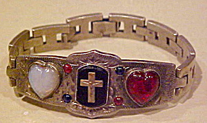 Religious bracelet with hearts (Image1)