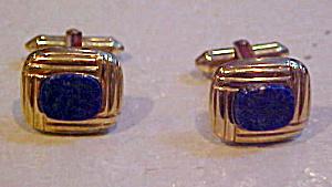 Blue lapis cufflinks (Image1)