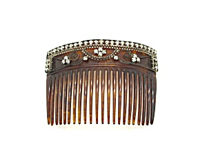 Victorian Decorated Hair Comb
