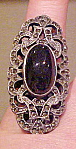 Marcasite and sterling ring (Image1)