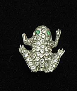 Rhinestone frog pin (Image1)