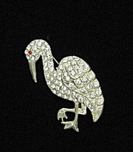 Rhinestone pelican brooch (Image1)