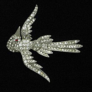 Rhinestone bird brooch (Image1)