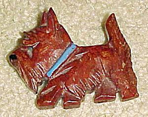Wood Scottie Dog pin (Image1)