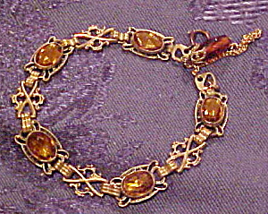 Czechoslovakian bracelet with topaz glass (Image1)
