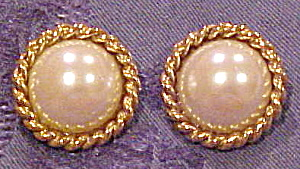 Carole Lee faux pearl earrings (Image1)
