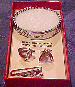 Windsor man's cufflink, bracelet, tie bar set (Image1)