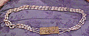 Hand crocheted belt with brass buckle (Image1)