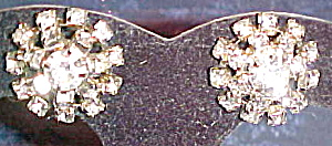 Button style rhinestone earrings (Image1)