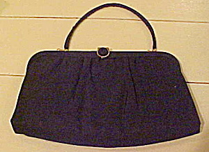 Black satin clutch by Ande (Image1)