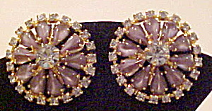 Rhinestone & Cabochon earrings (Image1)