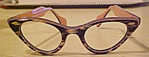 Vintage eyeglass frames pink/brn (Image1)