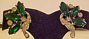 Pot metal earrings with rhinestones (Image1)