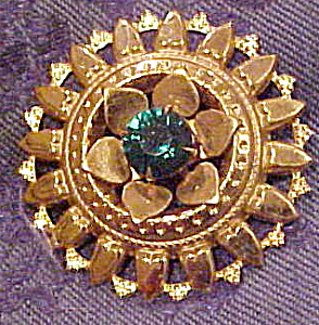 Brooch with tiny hearts and rhinestone (Image1)