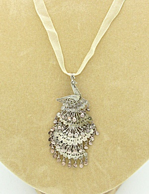 Filigree Peacock Pendant (Image1)