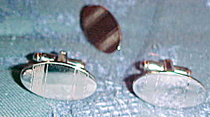 Sterling cufflinks and tie clip (Image1)