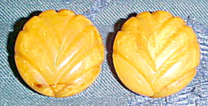 Butterscotch Bakelite earrings (Image1)