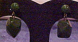 Green Bakelite earrings (Image1)