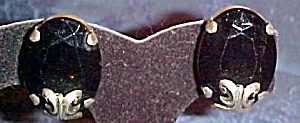 1980s rhinestone earrings (Image1)