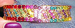 Contemporary rhinestone hinged bangle (Image1)