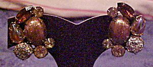 Rhinestone earrings with glitter stone (Image1)