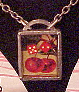 Classic Hardware Dice and Cherry necklace (Image1)
