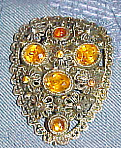 Dress clip with topaz rhinestones (Image1)