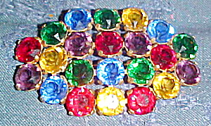 Czechoslovakian multi color brooch (Image1)