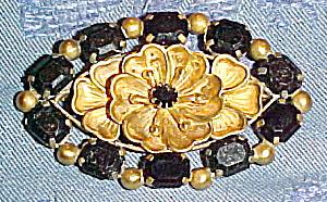 czechoslovakian brooch w/rhinestones (Image1)